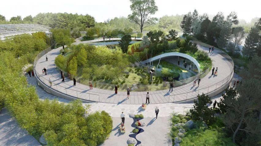 所以动物园为这两个可爱的宝贝儿们专门设计了新家:一个占地25,000